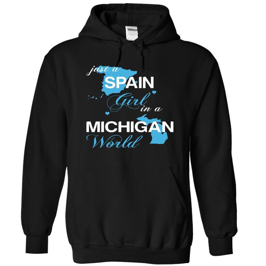 SPAIN MICHIGAN T-Shirts, Hoodies. GET IT ==► https://www.sunfrog.com/Camping/SPAIN-MICHIGAN-Black-Hoodie.html?id=41382