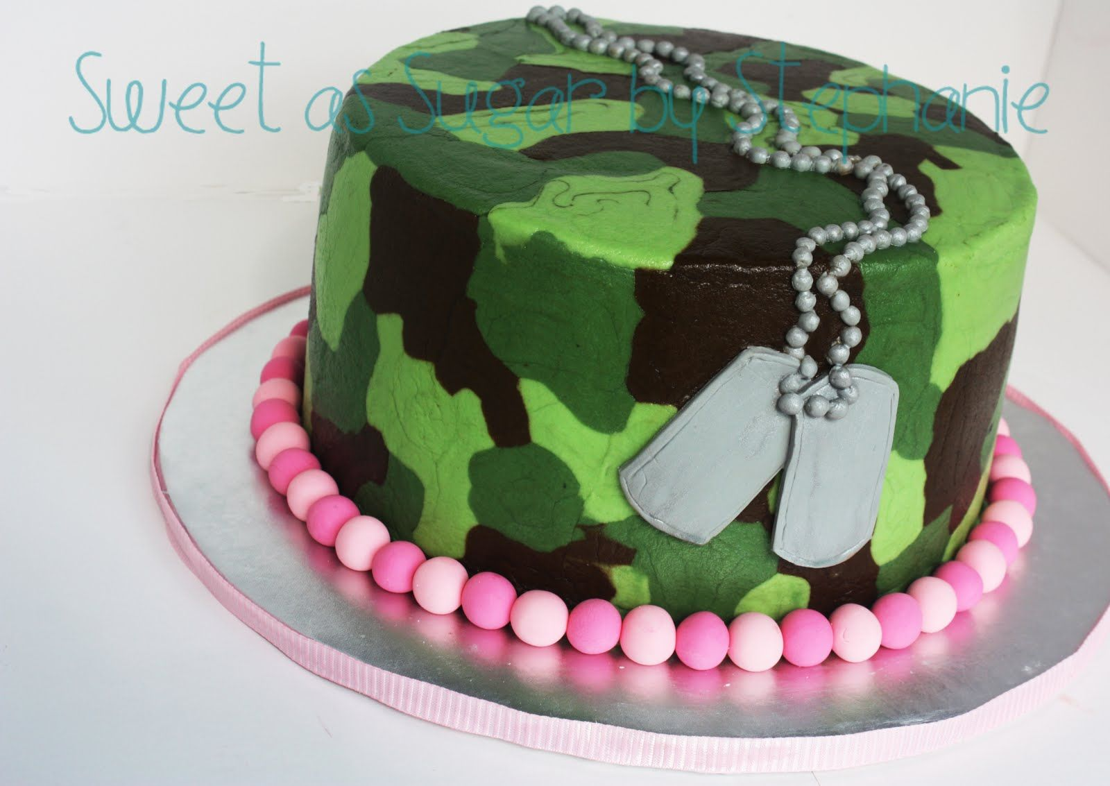 Army Camouflage Birthday Cake