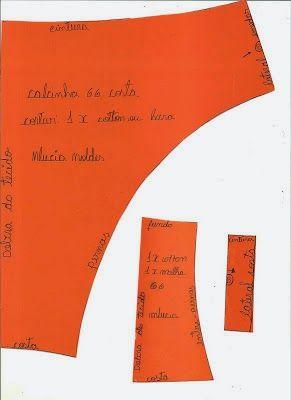 b42df9d3a Moldes de Calcinhas - Grátis - Toda Atual
