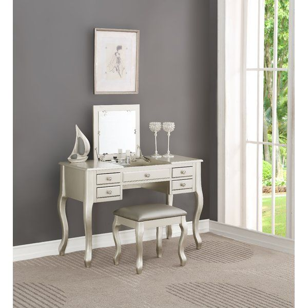Gwendolyn Vanity Set in 2018 Ava\u0027s room Pinterest Vanity - Bedroom Vanity Table