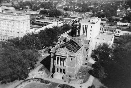 Dismantling Of The Old Smith County Courthouse In Tyler Texas