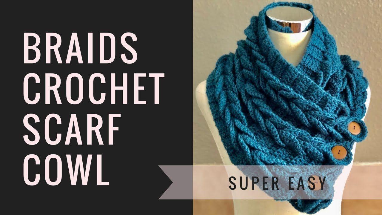Braids Crochet Scarf Scarves Crochet Scarves Crochet Braided Scarf