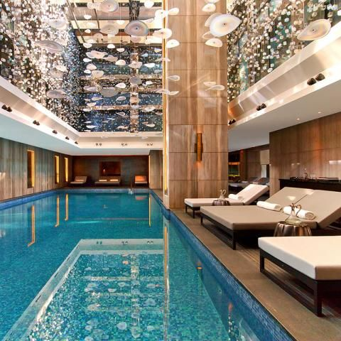 Raffles istanbul hotel zorlu center designed by hba sicis mosaic furniture jewelry - Piscine istanbul ...