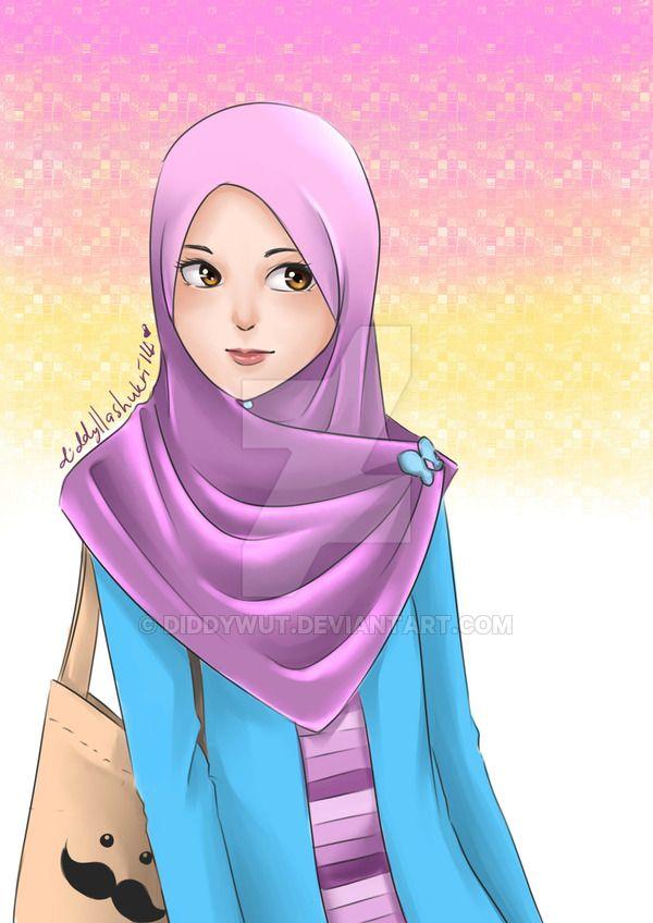 Tudung Bawal Anime Muslim Islamic Cartoon Hijab Cartoon