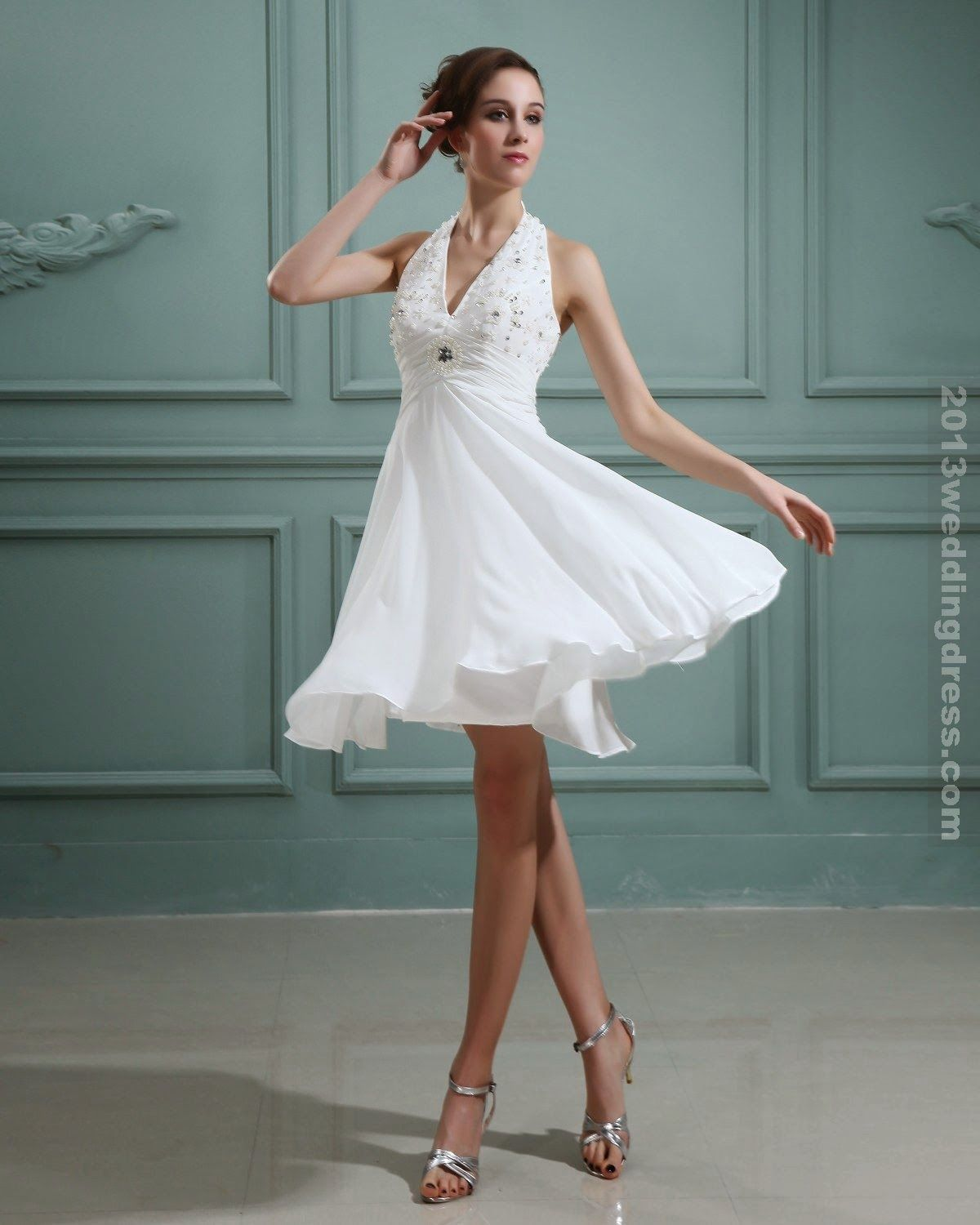 Short white dresses for wedding reception  Pin by Hossam Amin on All About Wedding  Pinterest  Italian