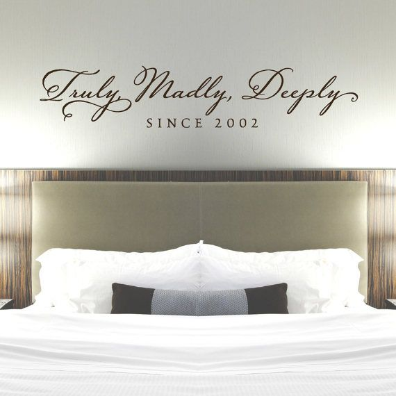 truly madly deeply bedroom wall decal vinyl wall sticker on wall stickers for bedroom id=15201