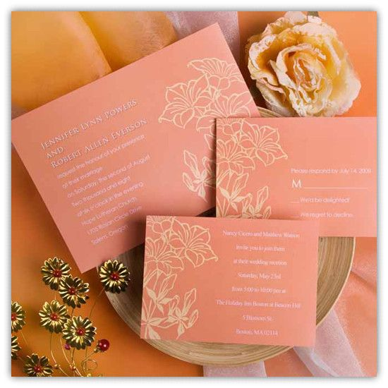 Top 10 coral wedding invitations pinterest weddings wedding top 10 coral wedding invitations stopboris Images