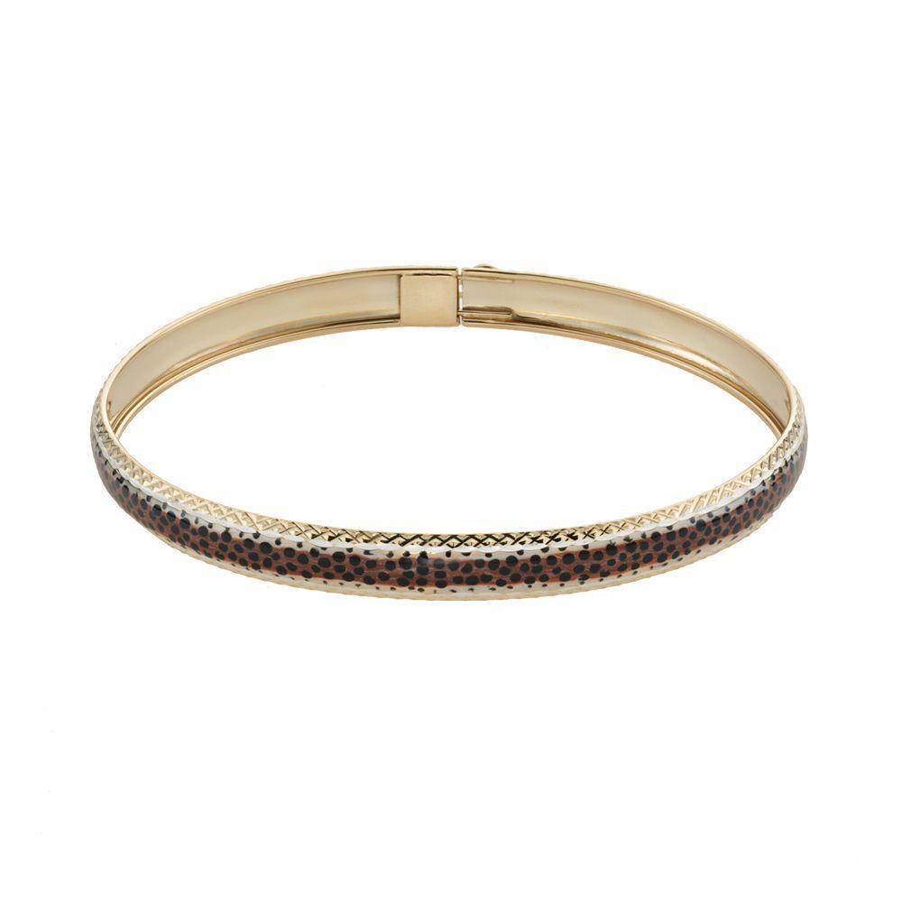Kohlus k gold u sterling silver leopard bangle bracelet bangle