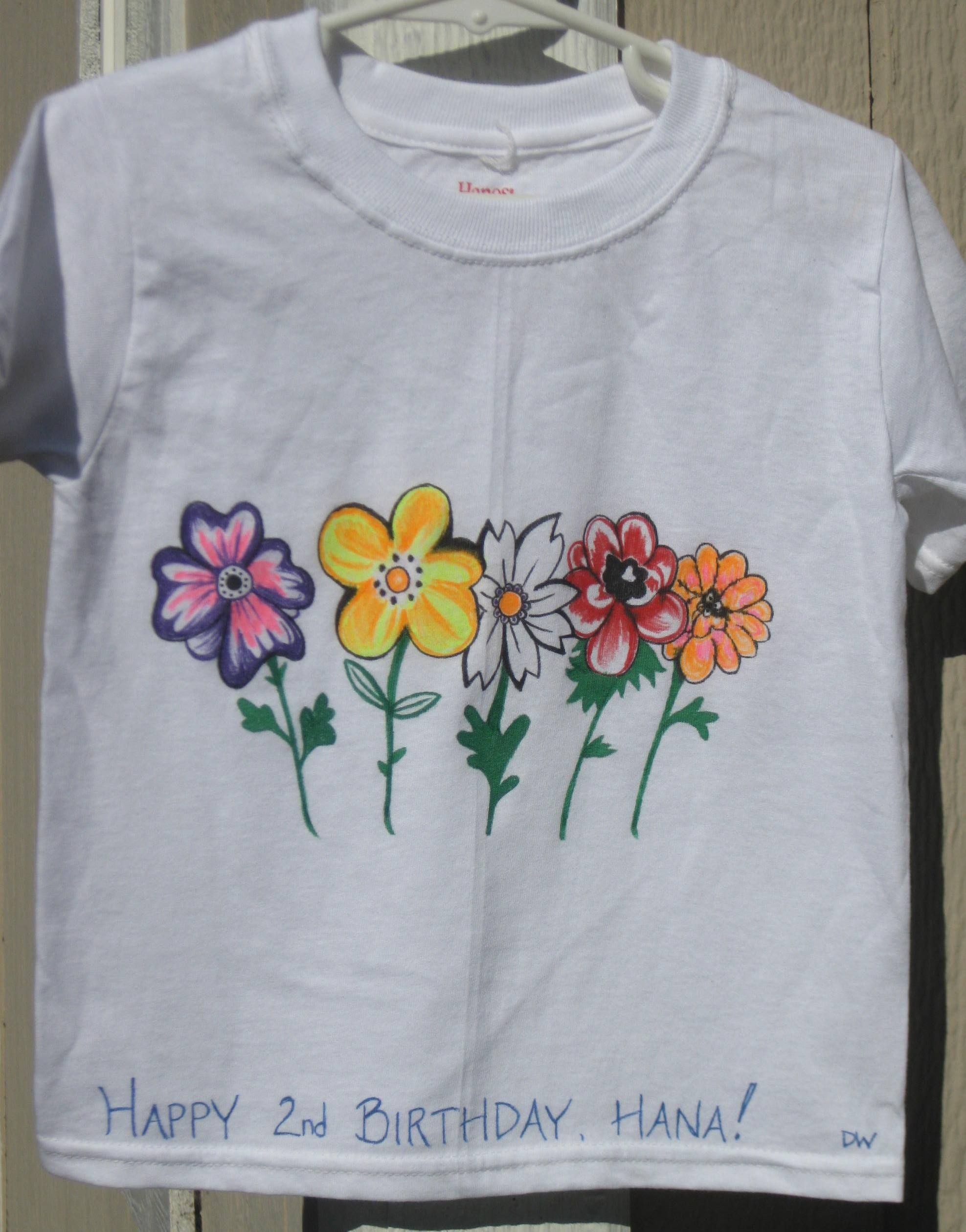 Painted T Shirts Hand Painted T Shirts Coffee Lilacs Craft