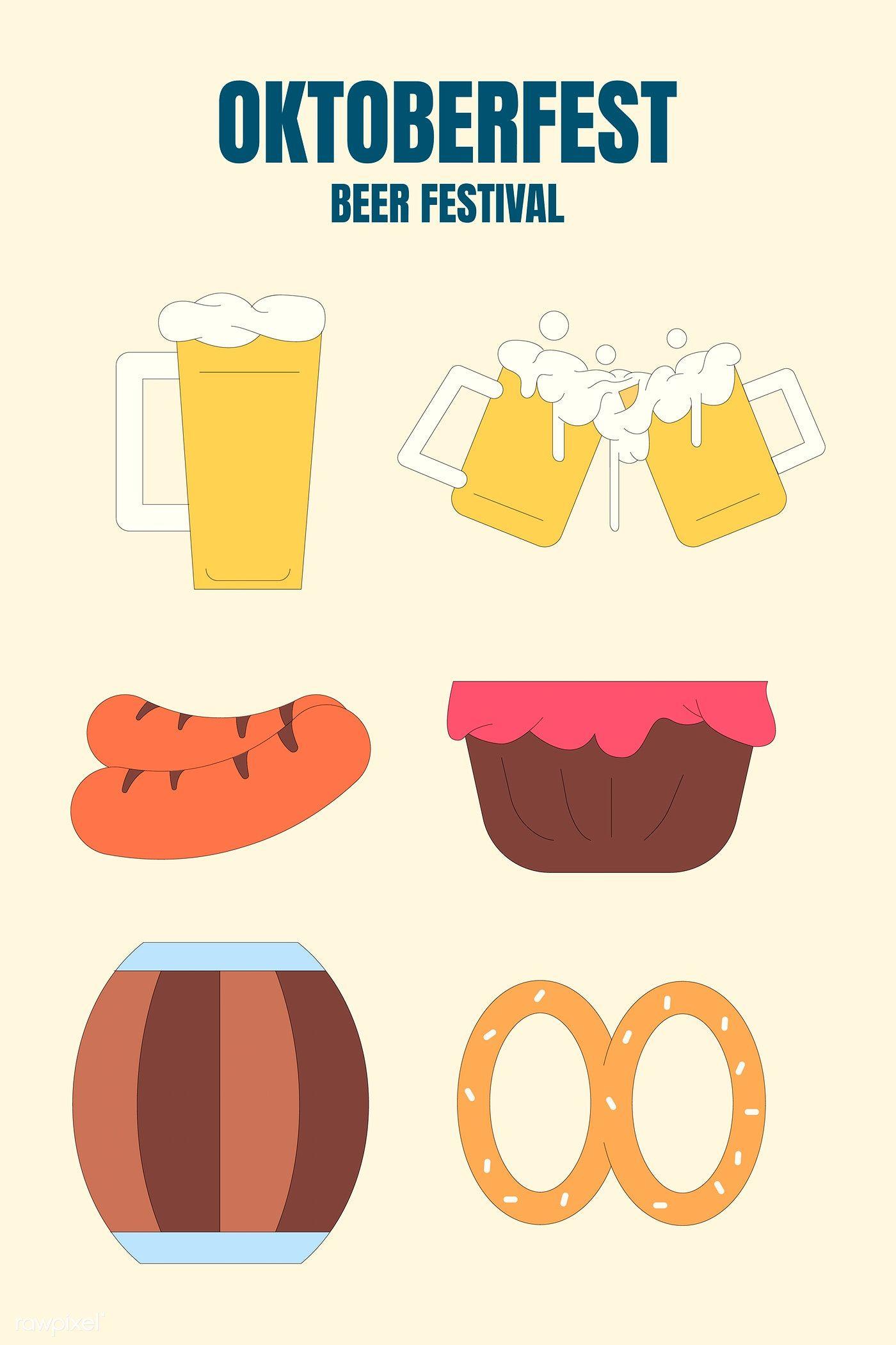 Download Premium Vector Of Oktoberfest Beer Festival Celebration Vector Oktoberfest Beer Beer Festival Oktoberfest
