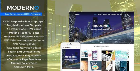 Moderno - Multipurpose Fast Performance HTML Template | Template ...