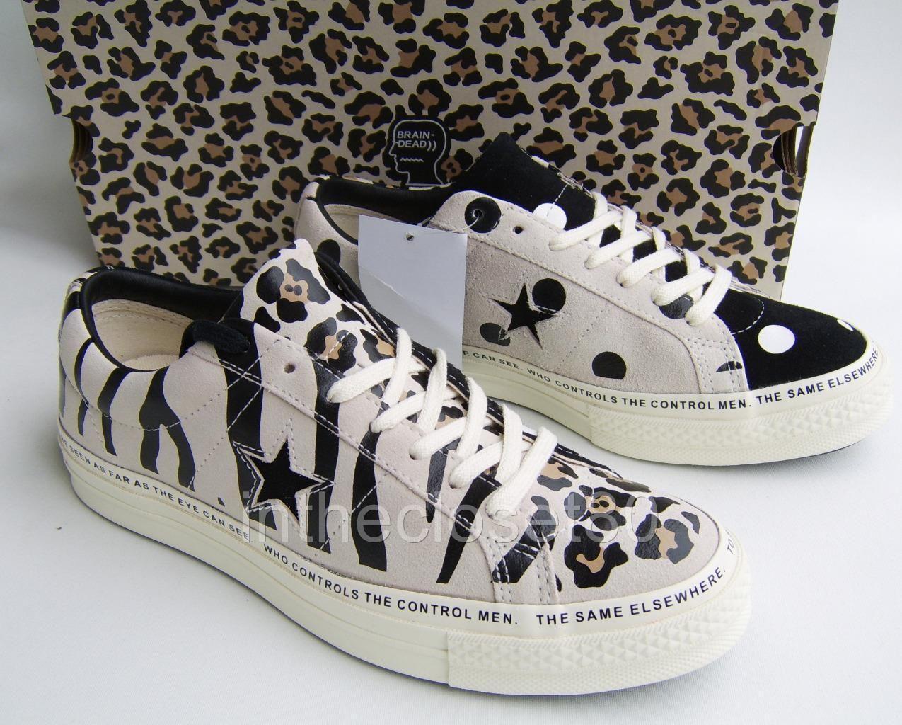 Converse One Star x Brain Dead Zebra Leopard Polka Suede
