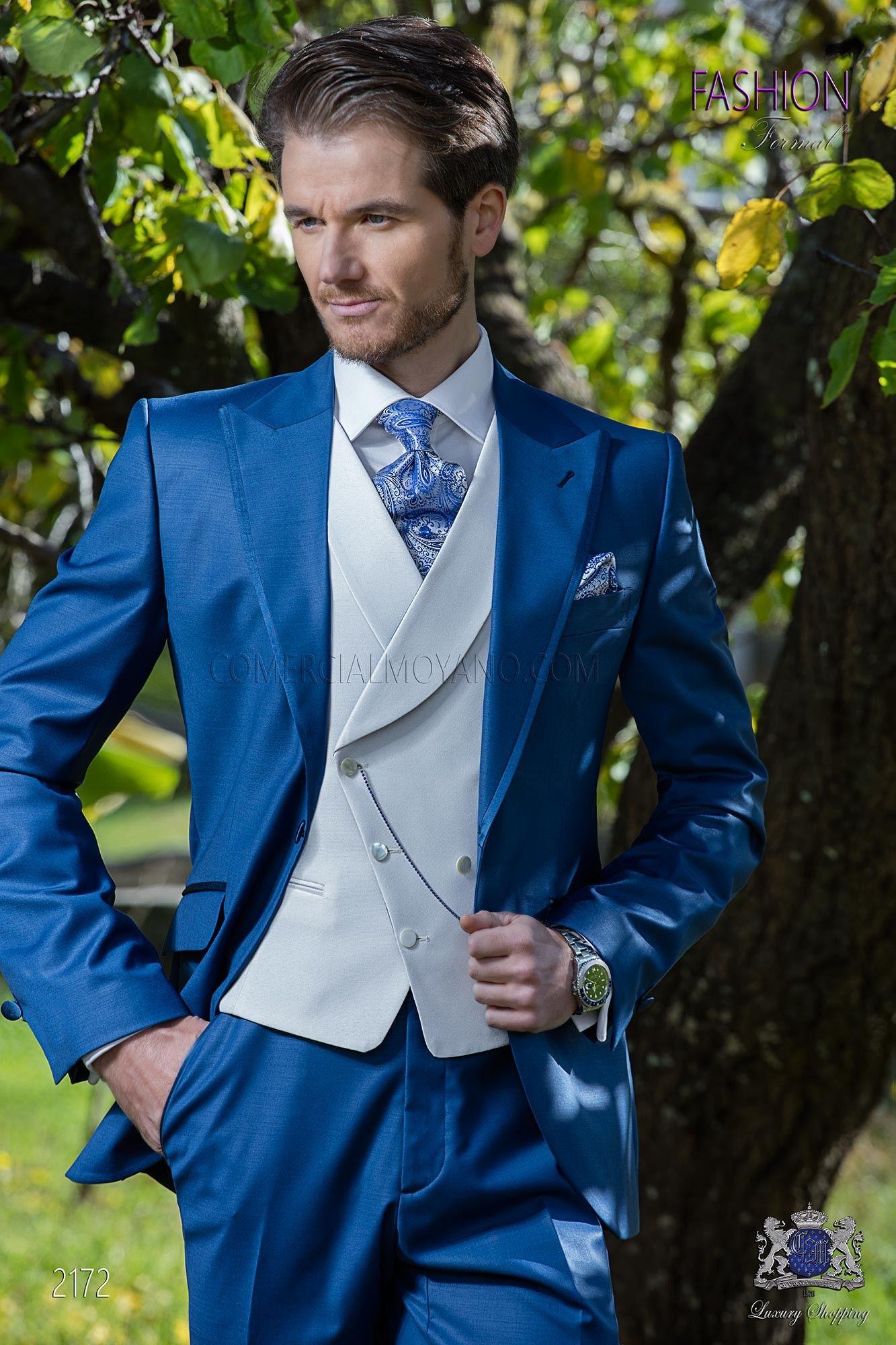 Costume de mariage bleu royal en 2019  e918efedc7b
