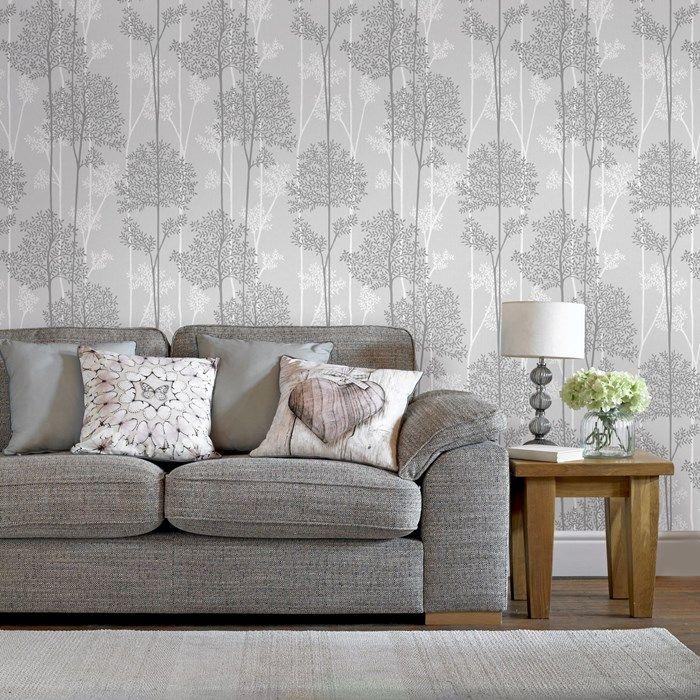 Eternal Grey Wallpaper Living Room Grey Wallpaper Room Wallpaper