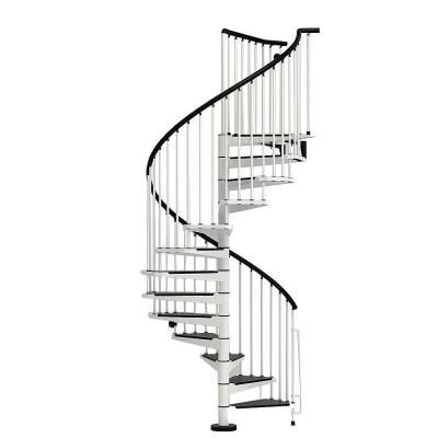 Best Arke Civik 55 In White Spiral Staircase Kit Spiral 400 x 300