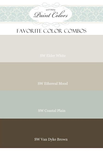 love these colors {similar to my house, only mine are Benjamin Moore