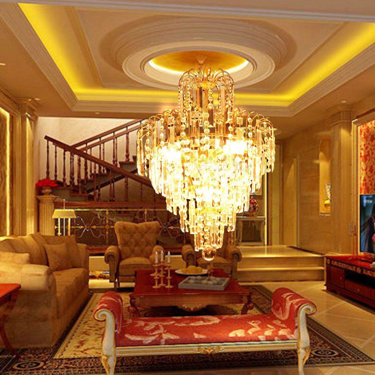 elegant crystal chandelier ceiling light lamp pendant