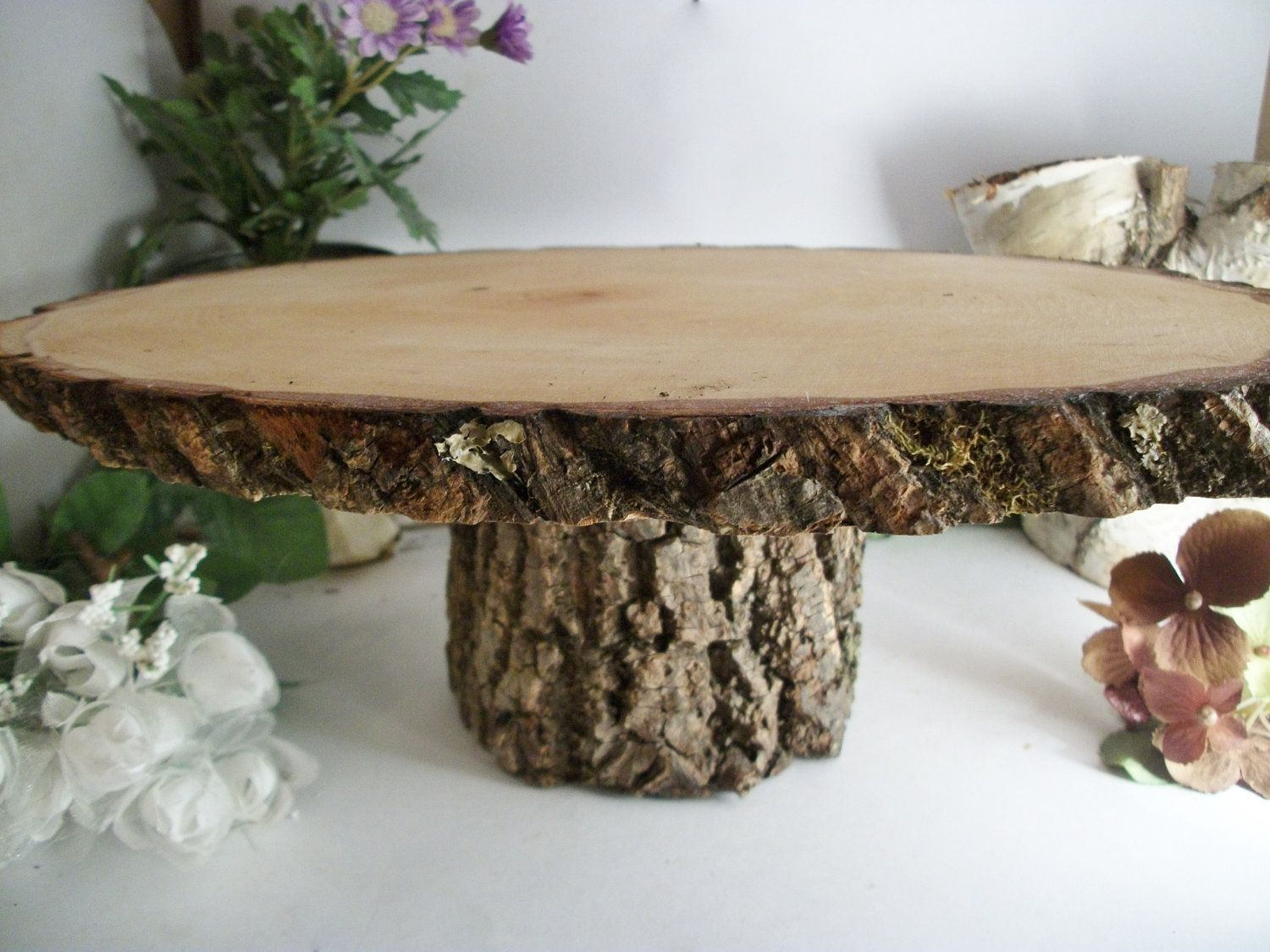 rustic wooden wedding cake stands small rustic oval cake stand wood cake platter for outdoor 19594