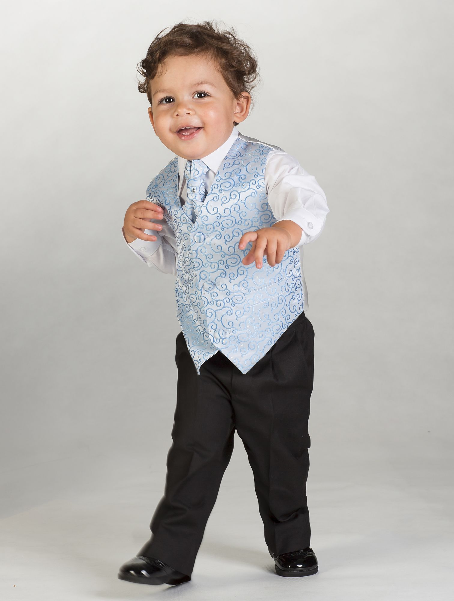 Page Boy Suit | Justin - baby blue swirl patterned waistcoat suit ...