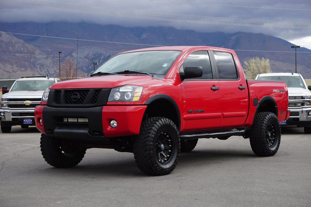 low miles 2011 nissan titan pro 4x crew cab crew cabs for sale pinterest nissan titan. Black Bedroom Furniture Sets. Home Design Ideas