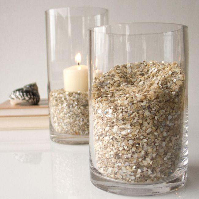 Decorar jarrones con piedras buscar con google - Decoracion de jarrones de cristal ...
