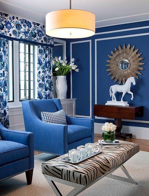 Papel pintado azul marino buscar con google home sweet - Cortinas azul marino ...