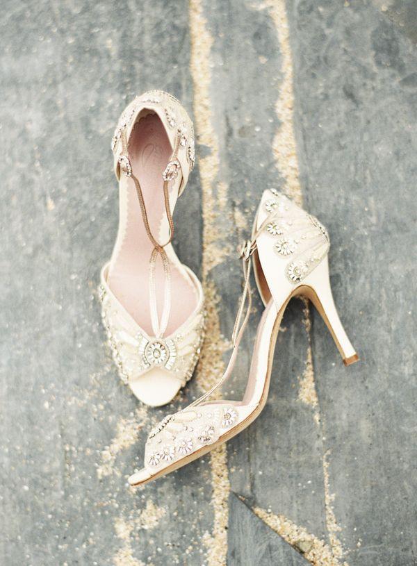 Vintage Inspired Wedding Shoes Sara Hannam Photography On Bajanwed Via Aislesociety Wedding Shoes Vintage Wedding Shoes Designer Wedding Shoes