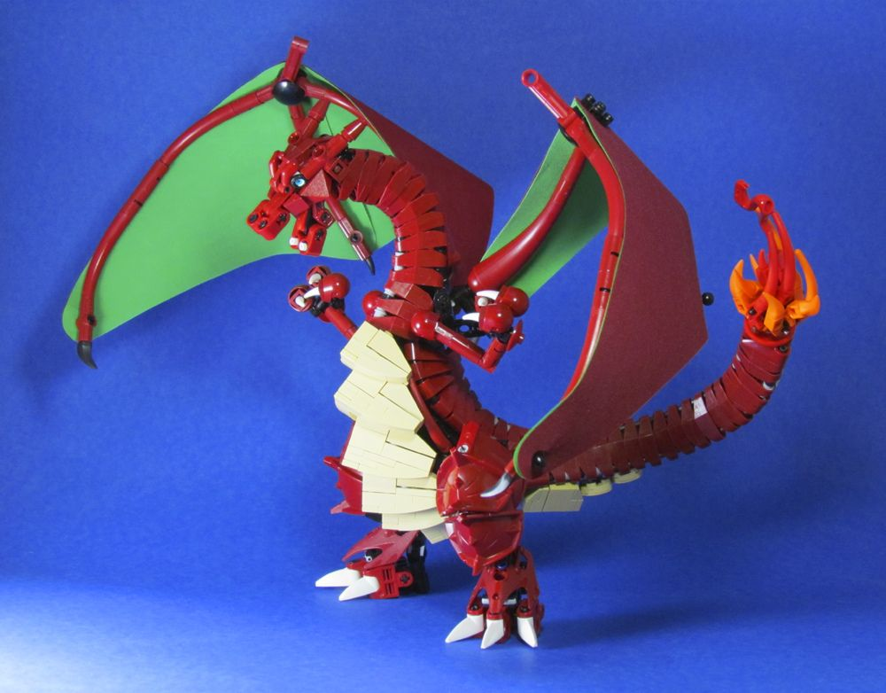 https://flic.kr/p/eqBALa | Pokemon: Charizard Preview | I'm still waiting on a few pieces to finish him.  I sneakily hid those blank spots on the other side.  This will be finished just in time for me to take it to Brickworld, Chicago.    This is one of my strongest models.  The tension and compression allow it to be carried by the tail or neck without breaking.    I'm not sure how I feel about the new Flickr yet.  I think I'm going to start an ipernity account just in case there is an…
