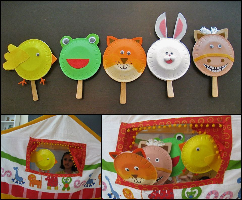 cute plate animals & cute plate animals | Kuklalar | Pinterest | Animal Craft and Paper ...