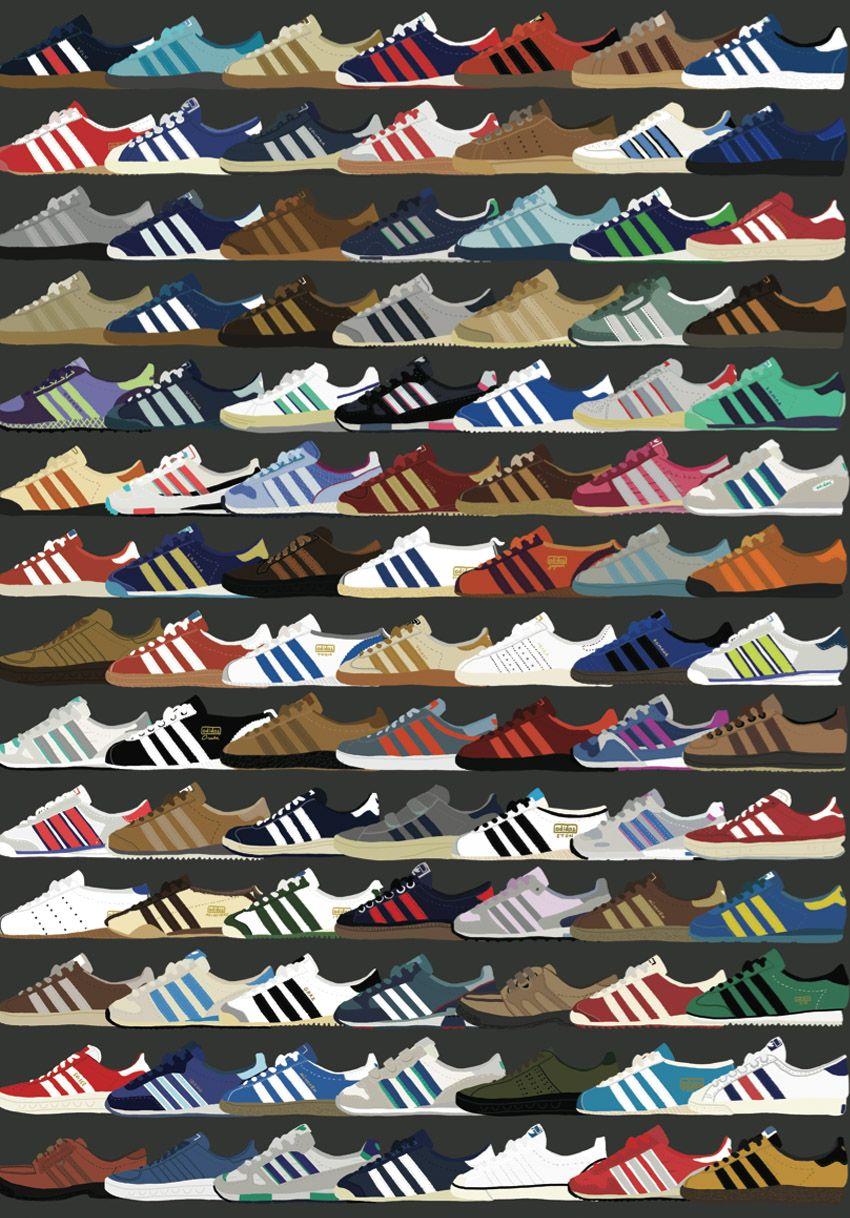 Pin oleh Aurel Maulida di Logo Sepatu adidas, Gaya