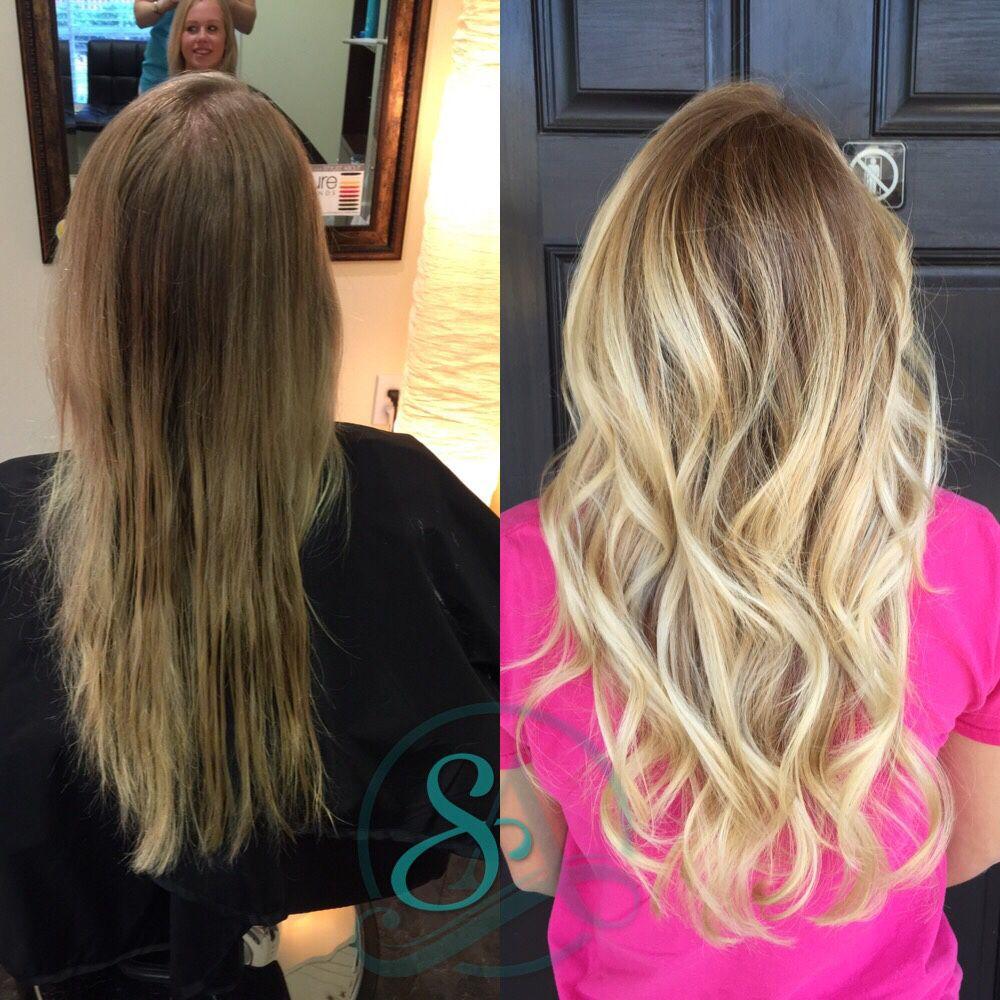 Great Fall Hair Colors For Blondes Blonde Balayage With Stretched