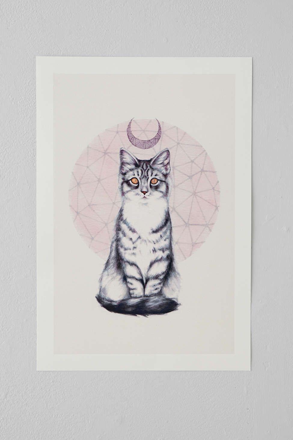 P. Carrington Mystic Kitten Art Print.