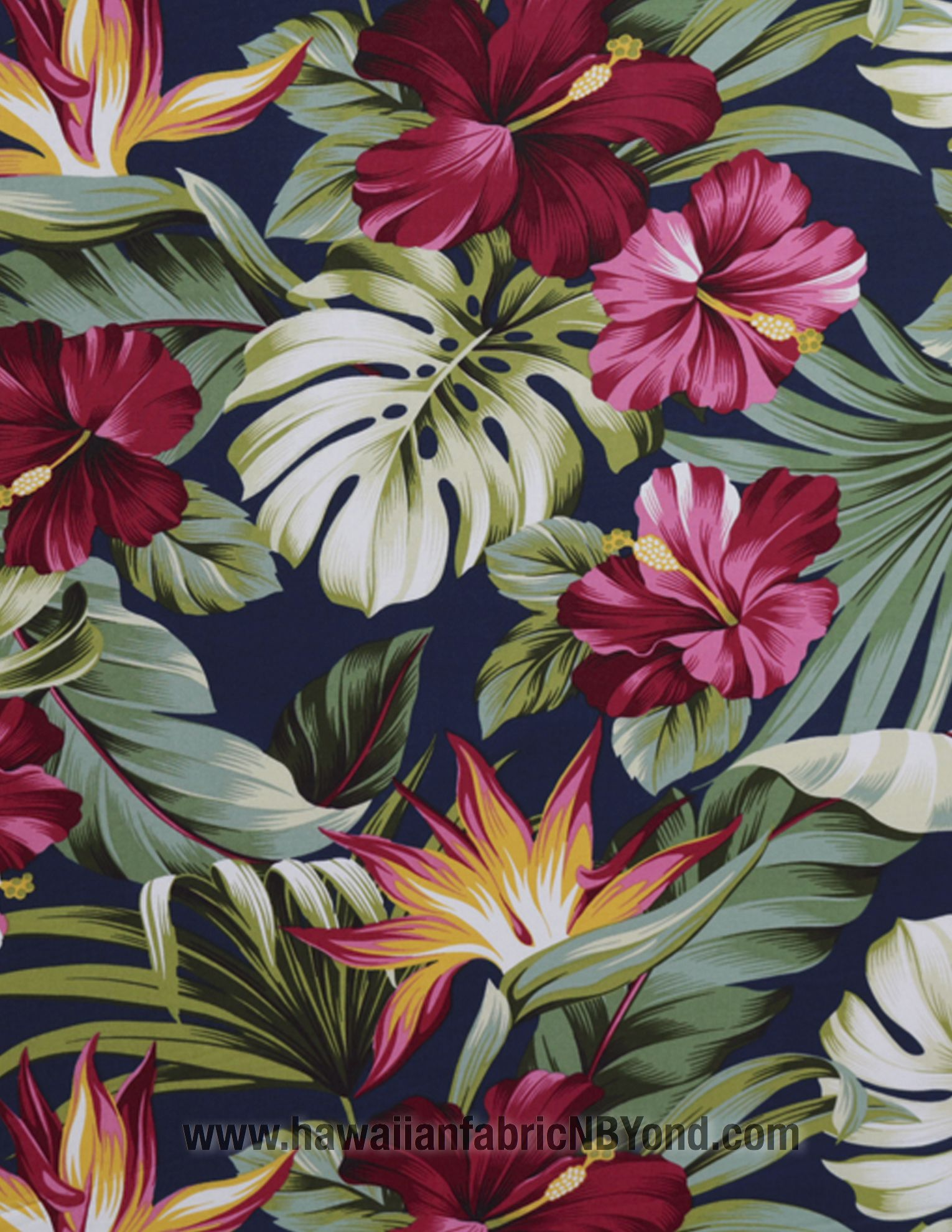 Rayon Hawaiian fabric: Beautiful tropical flowers and ... - photo#14