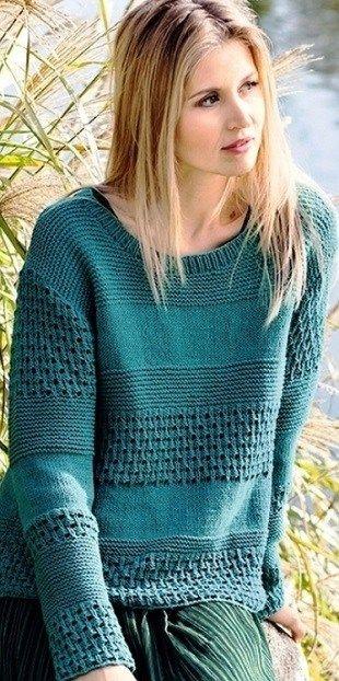 un pull bien chaud pour l'hiver - La Grenouille Tricote #tricotgratuit