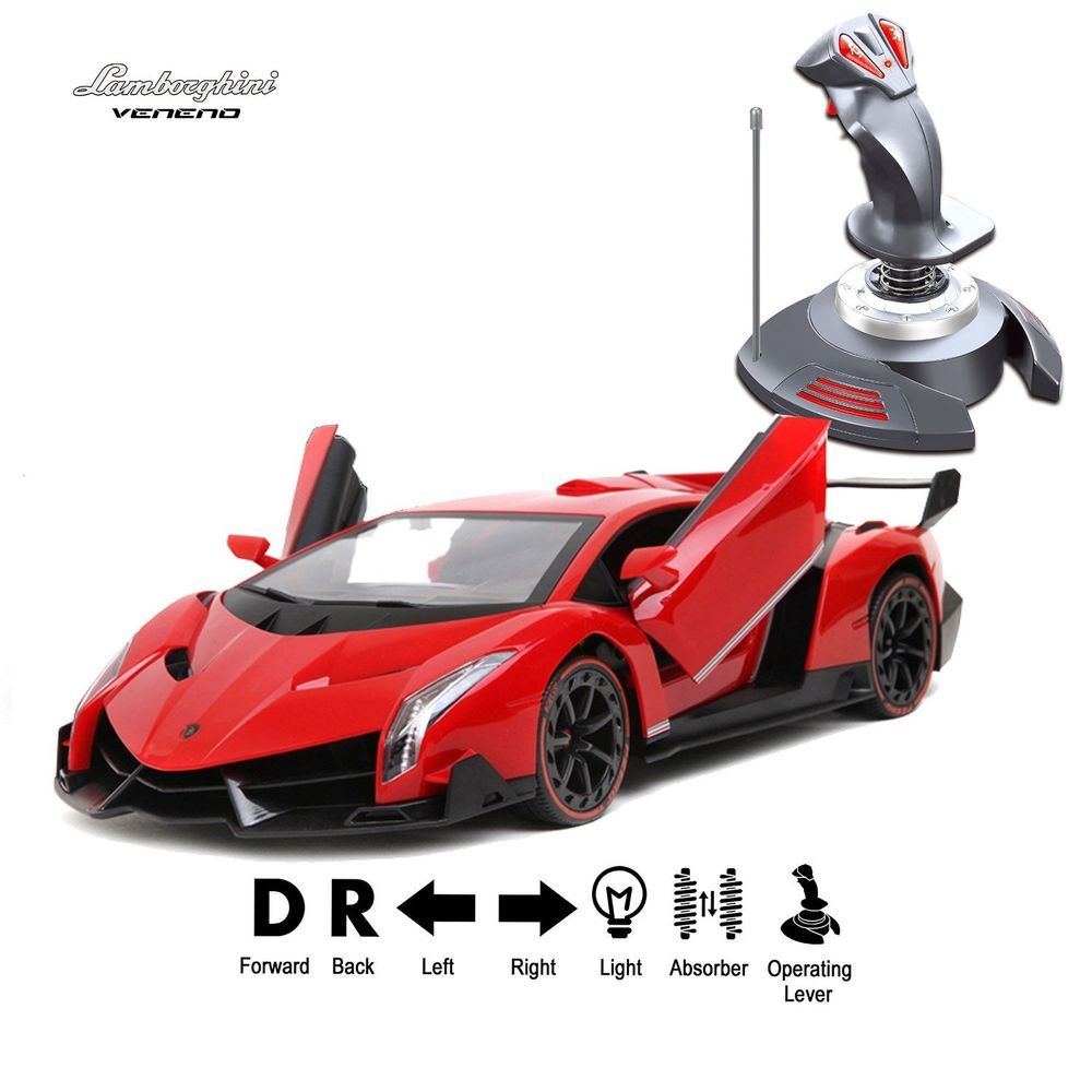 1/14 RC Radio Control Car Lamborghini Veneno Red Gravity Sensor Operation  Japan #Holystone