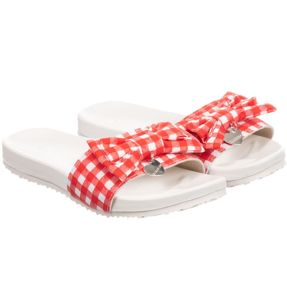 f4ca35914c0 White sliders for girls by Monnalisa