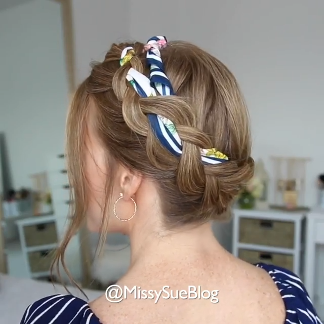 SCARF BRAIDED HAIRSTYLE