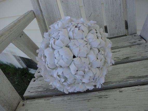 Paper Peony Bouquet Wedding Bouquet Bridal Bouquet Bridesmaid Bouquet Gift