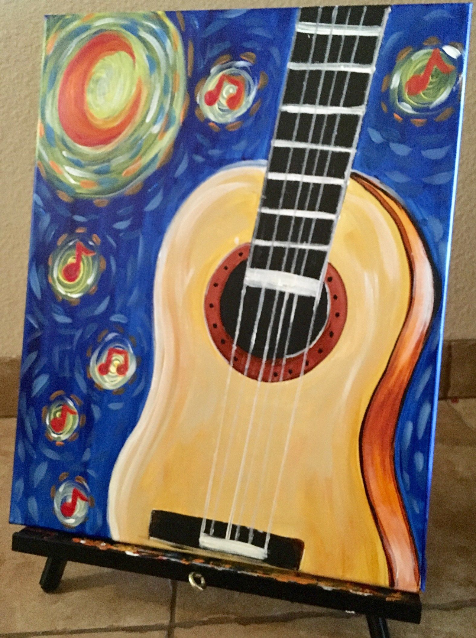 How To Paint Starry Night Guitar in 2018 | dibujos | Pinterest ...