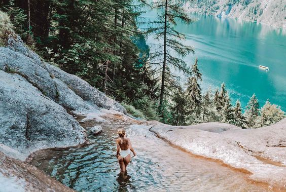 Königssee natural pool and waterfall path and the most beautiful places! -  Königssee natural pool and waterfall path and the most beautiful places!  - #AdventureTravel #Beautiful #BudgetTravel #Königssee #Natural #path #Places #pool #TravelPhotos #Waterfall