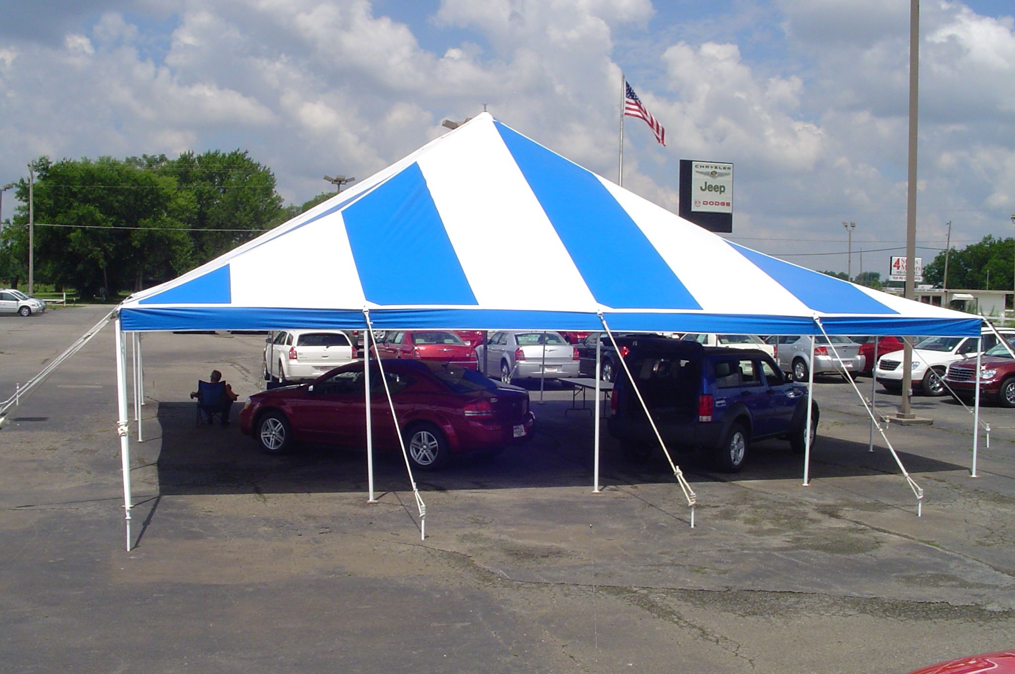 size 40 8f94b e6dbd 40' x 40' square pole tent for car sales.   Tents for ...