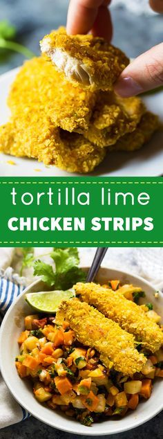 These Lime Tortilla Chicken Strips can go directly from freezer to oven and are ready in just 20 minutes!