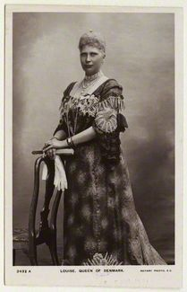 Louise, Queen of Denmark and Princess of Sweden published by Rotary Photographic Co Ltd postcard print, 1900s