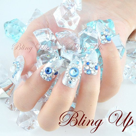 Icy nails for a White Witch... or for fun. Lol. They're ...