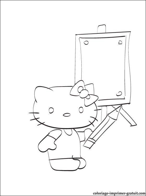 Coloriage Hello Kitty En Ligne Coloriage à Imprimer Gratuit 2