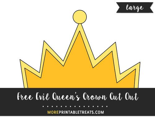 Free Evil Queen's Crown Cut Out - Large | Princess Theme ...