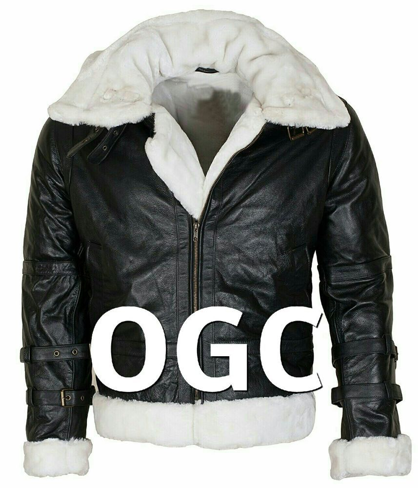 Mens B3 Aviator Ginger Fur Lined Winter Warm Hooded Black Bomber Leather Jacket Moviesoutfit Bomberjacket Leather Bomber Jacket Black Bomber Jackets [ 1000 x 857 Pixel ]