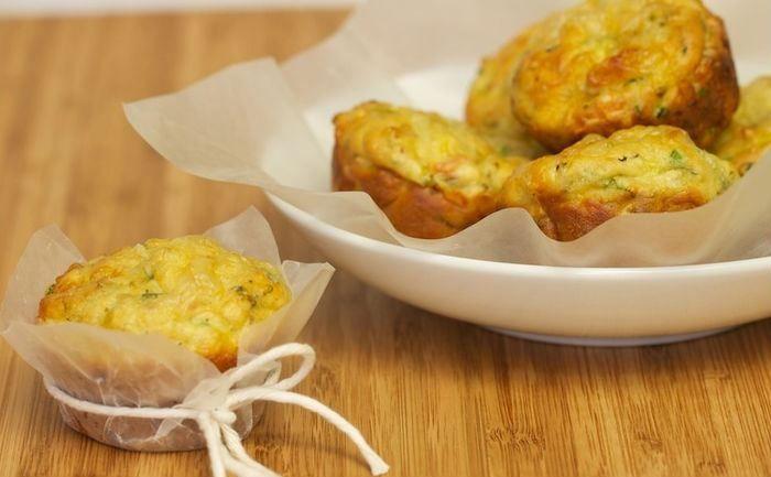 Muffin de abobrinha, delicioso e nutritivo