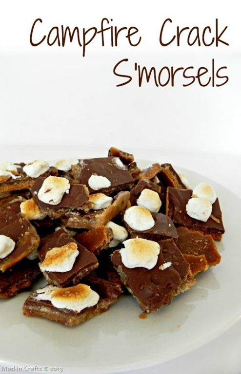 I used broken pieces of Hershey bars instead of chocolate chips and used mini marshmallows. Put pan back in oven to toast the marshmallows...they were gooey ...