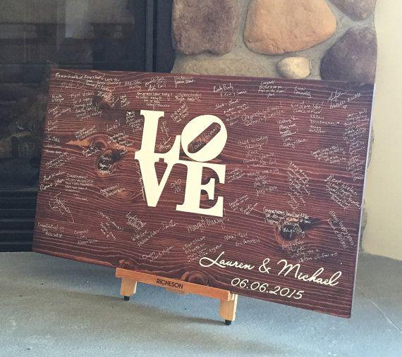Creative Ideas For Guest Books At Weddings: Philadelphia Wedding Guest Book Option: Love Sculpture